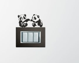 Mini sticker murale-panda giocherelloni