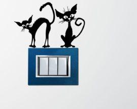 Mini sticker murale-gatti spelacchiati