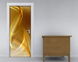 Adesivo per porte-sfumature dorate