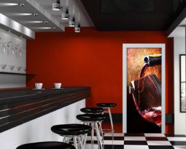 Adesivo per porte-calice di vino rosso