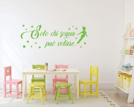 Solo chi sogna può volare-Adesivo murale Peter Pan