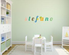 """Adesivo murale con nome-lettere adesive da muro """"alfabeto colorato"""""""