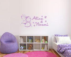 Adesivo murale con nome-Elsa e Anna-adesivo da parete